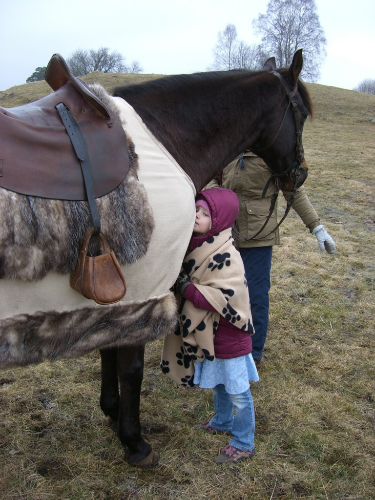 Hästar luktar gott.